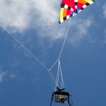 My KAP rig supported by the 9-foot Levitation kite