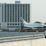 On the way back to Houston, we passed the Shuttle trainer that is being relocated to the Johnson Space Center